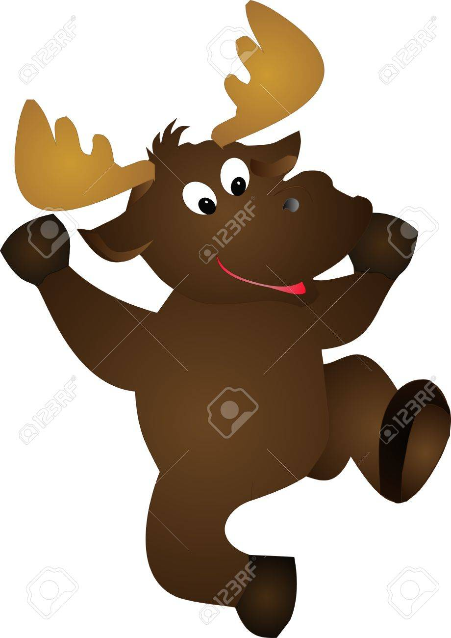 marty the moose dancing around illustration royalty free cliparts