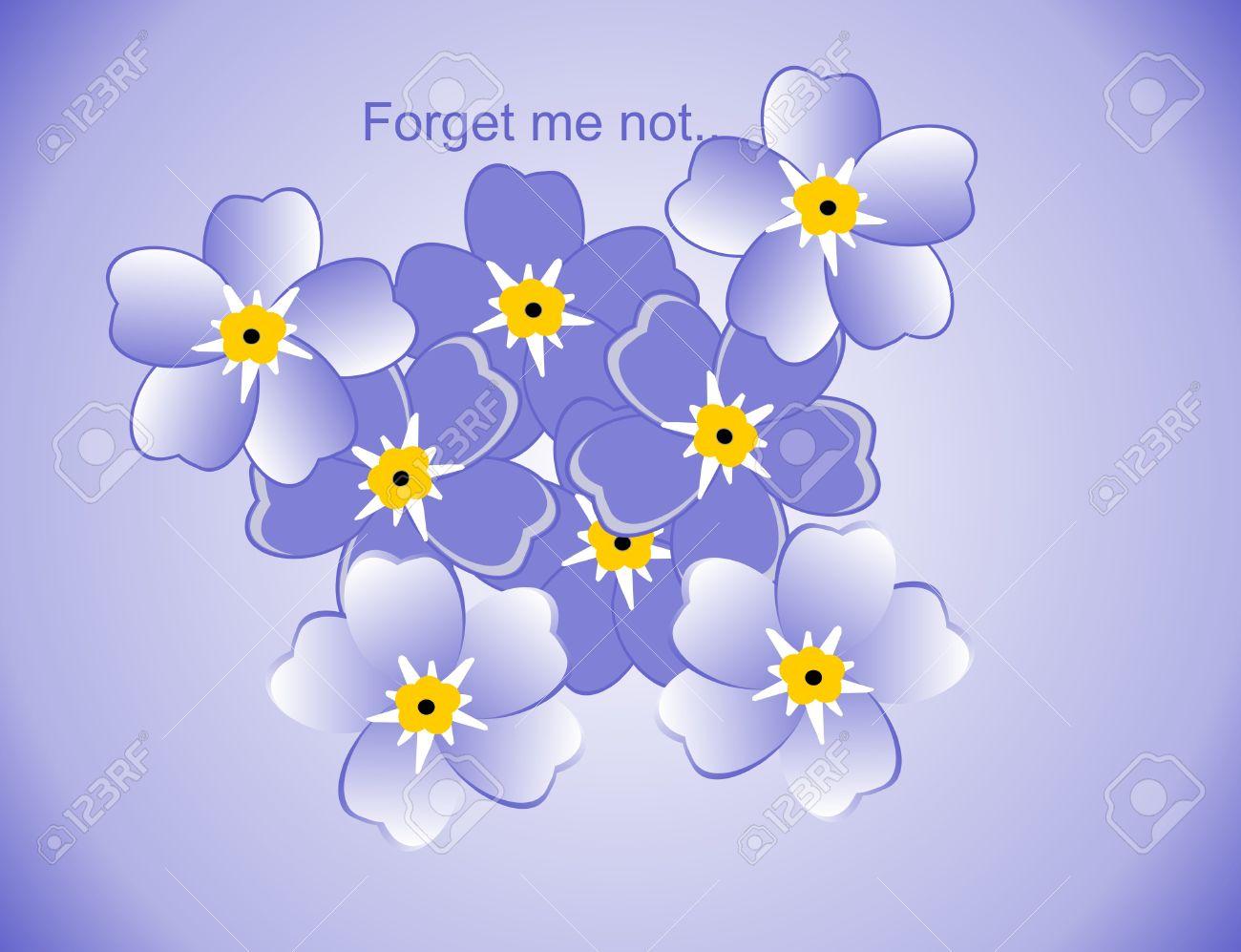 Coloriage Fleur Myosotis.Fleurs Bleus Myosotis Alpestris Appeles Forget Me Not