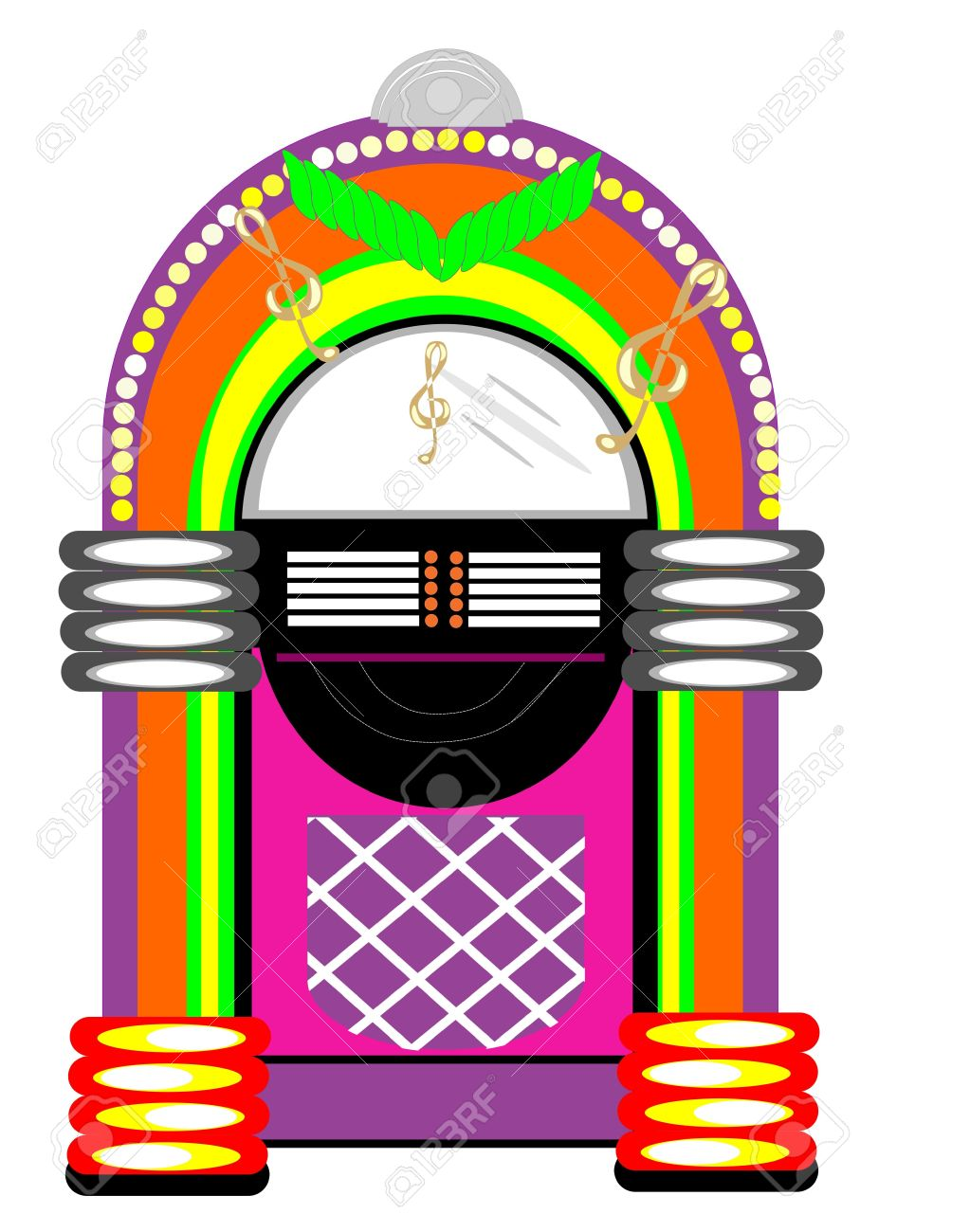 retro jukebox illustration royalty free cliparts vectors and stock rh 123rf com 1950s jukebox clip art jukebox clip art free