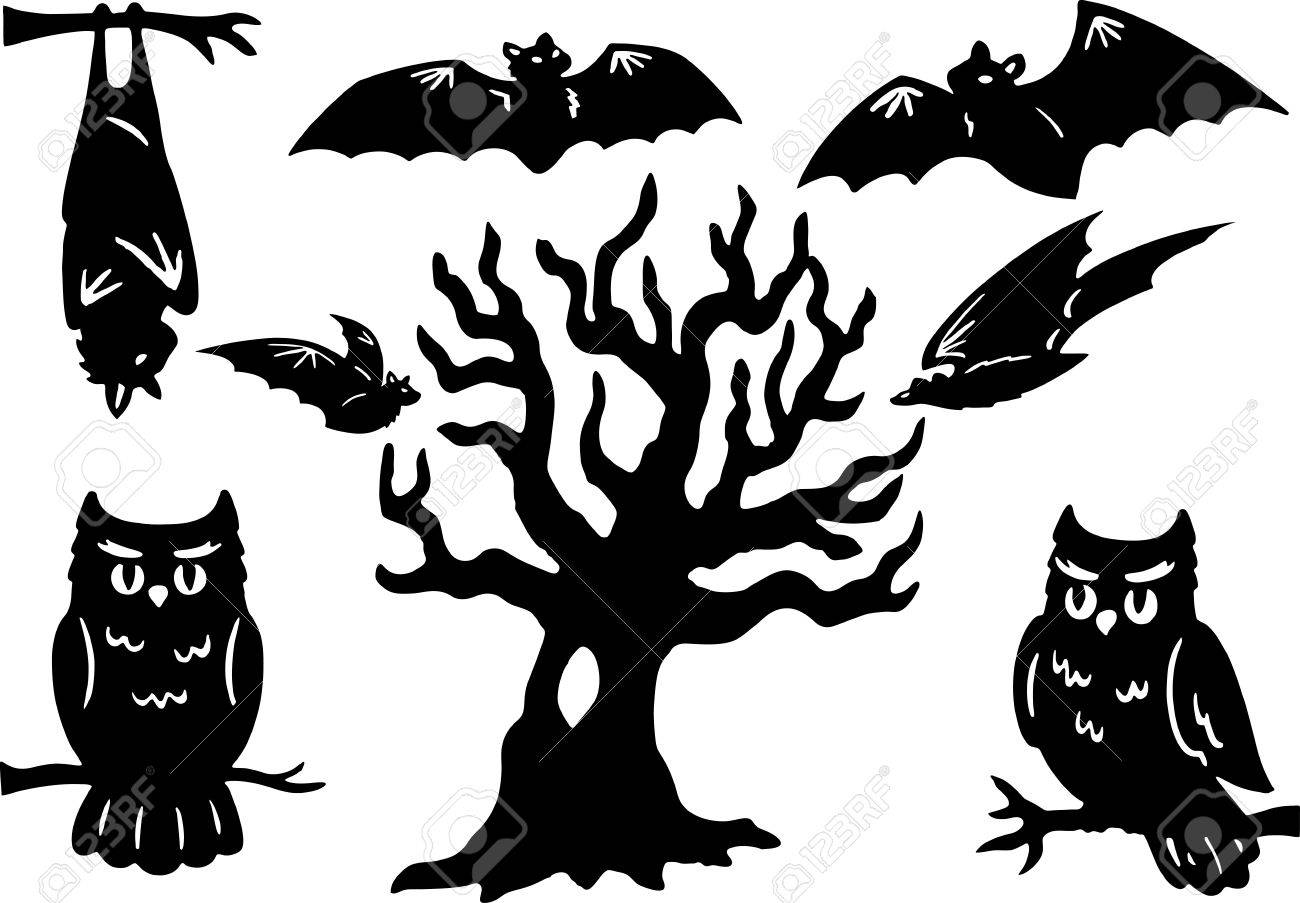 Owl Head Silhouette Vector Halloween Silhouettes with owl
