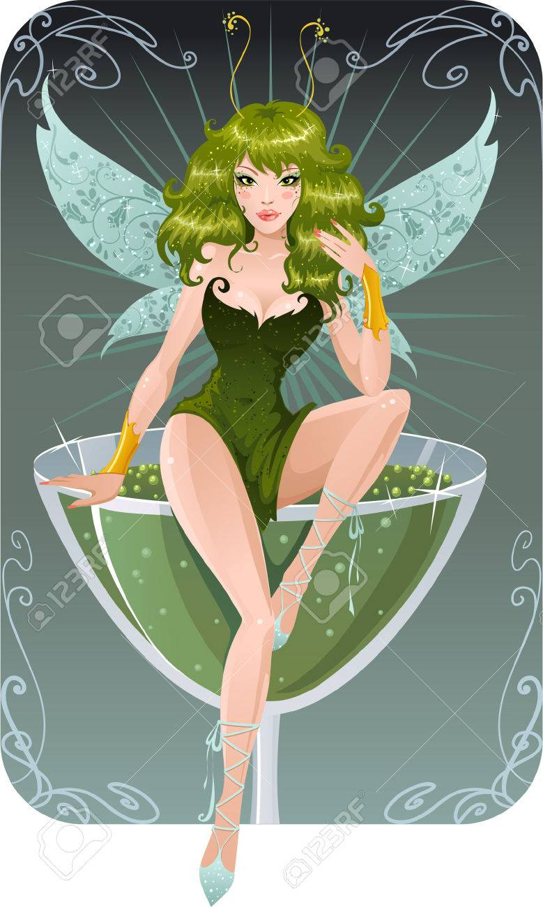 Absinthe Fairy Royalty Free Cliparts Vectors And Stock Illustration Image 3117987