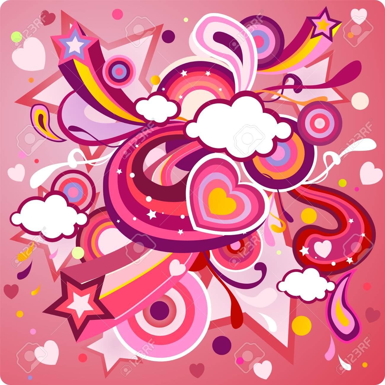 St, Valentine's Day background Stock Vector - 4136804