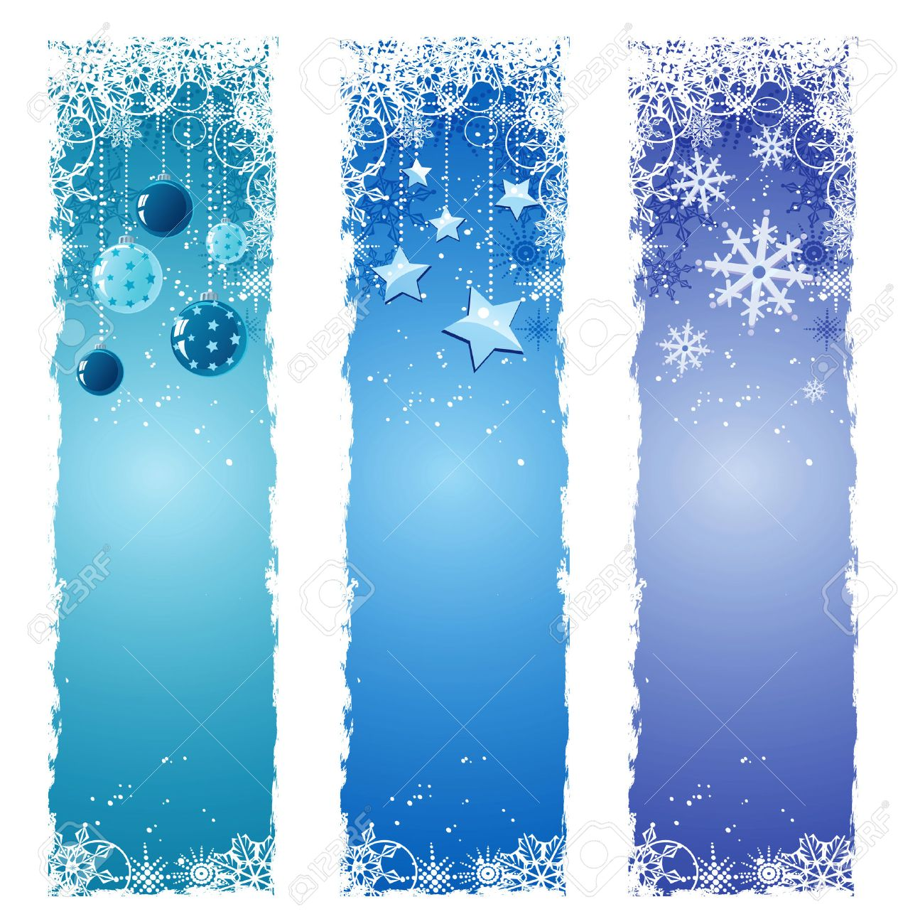 Blue Christmas banners Stock Vector - 8059041