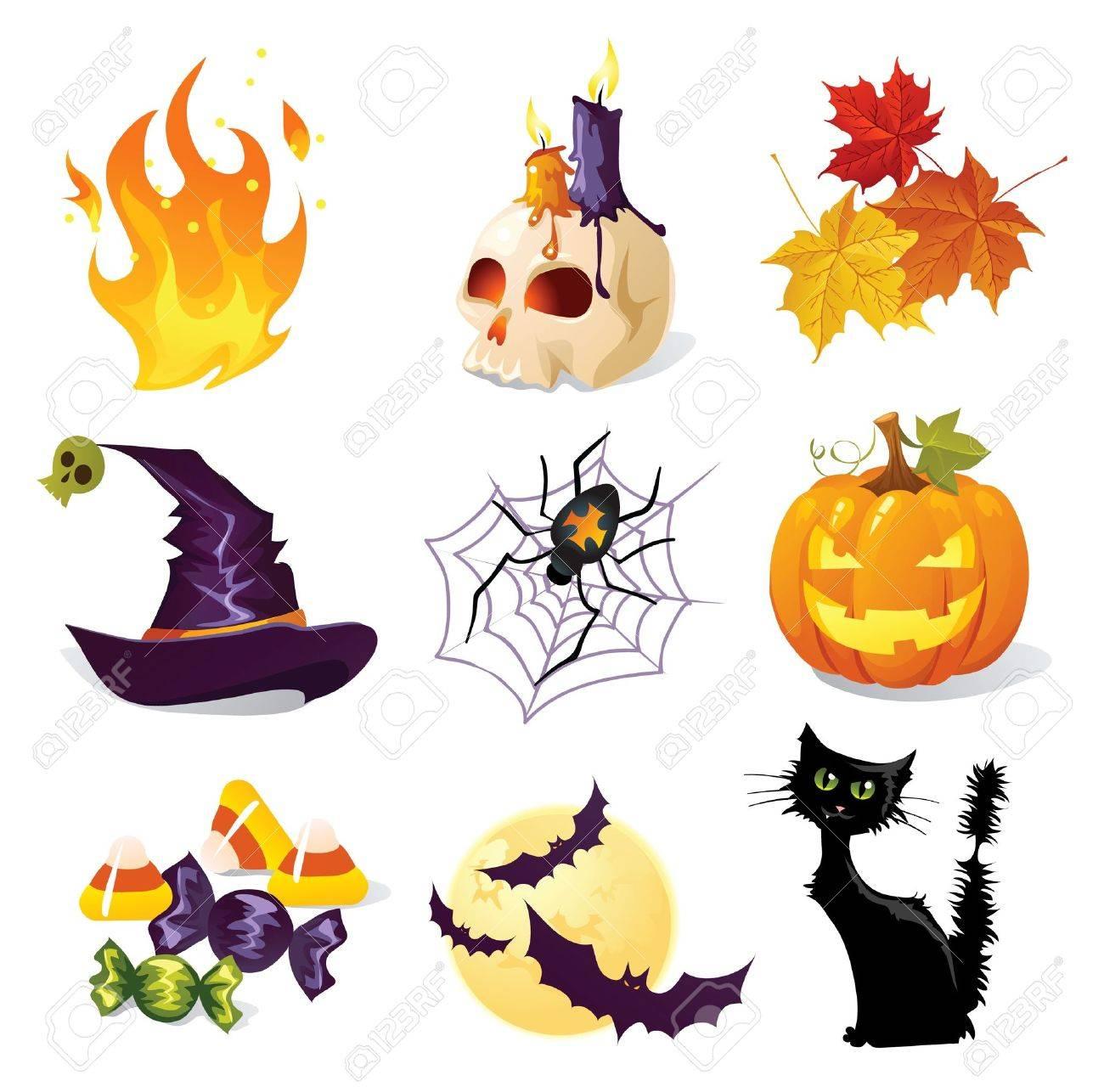 Halloween icons Stock Vector - 15120834