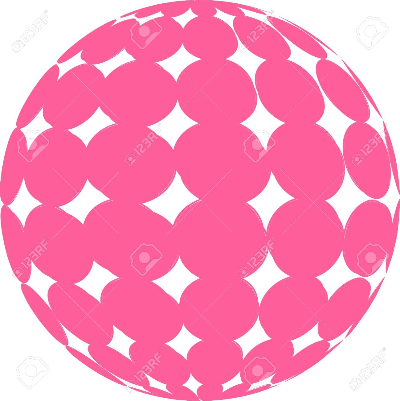 Pink Sphere Illustration Stock Vector - 11512458
