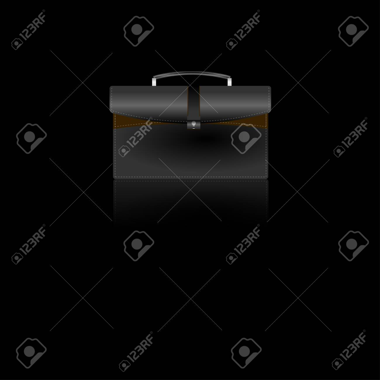 Tan & Black Briefcase Icon Stock Vector - 11561041