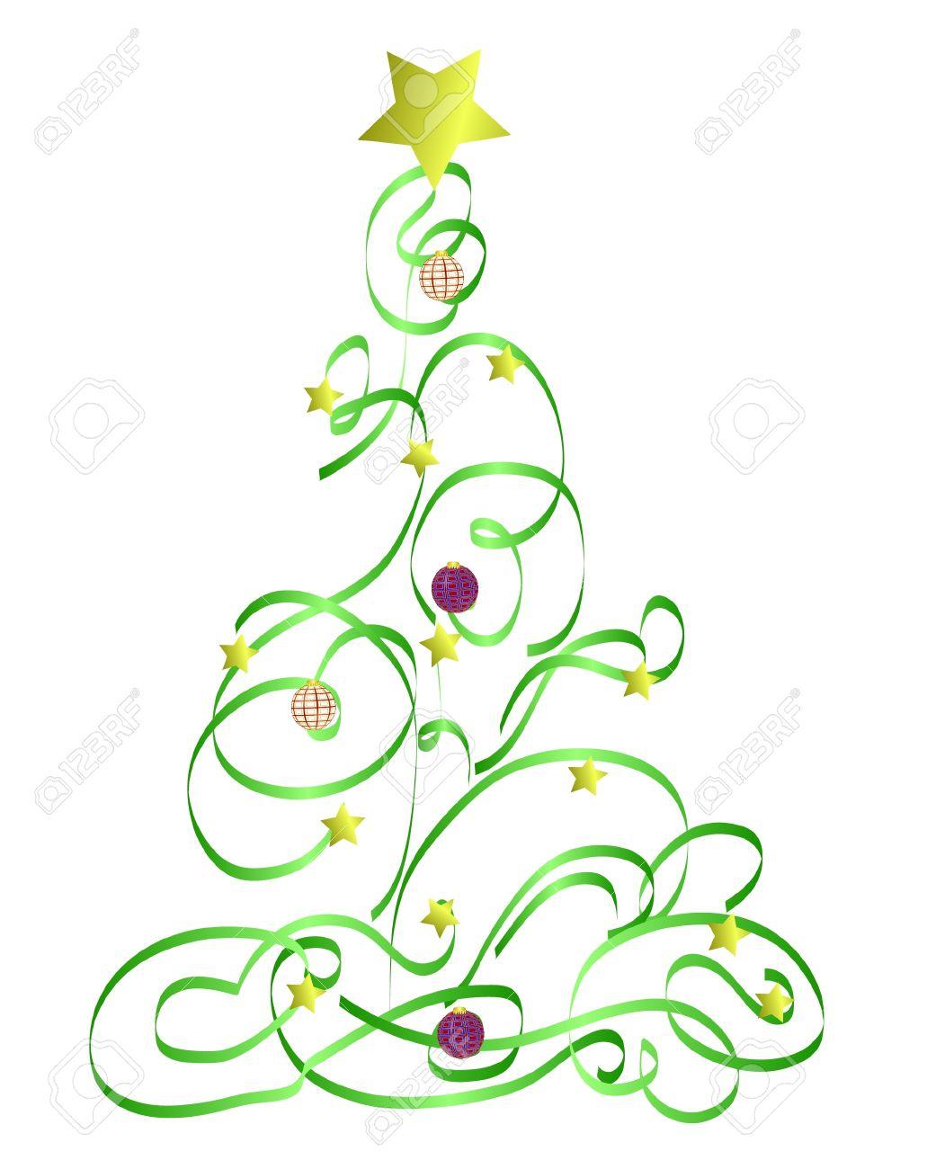 abstract christmas tree illustration royalty free cliparts vectors