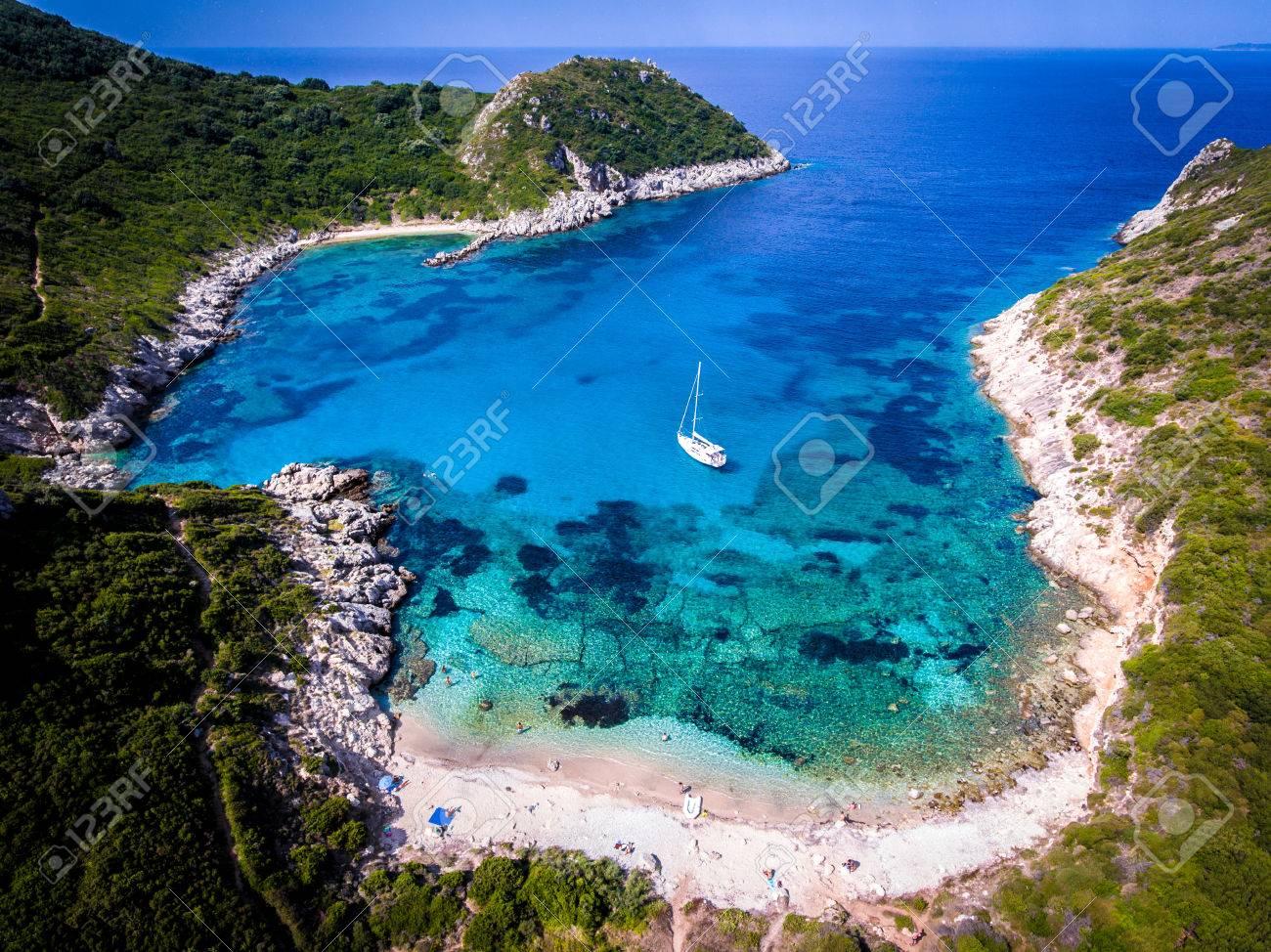 Porto Timoni, on of the hidden beaches of Corfu Island, also