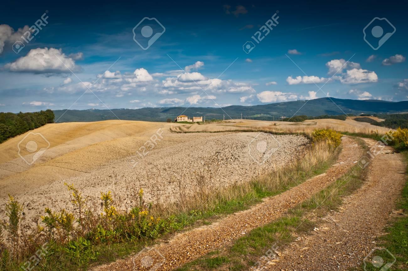 View of scenic Tuscany landscape , Chianti region, Tuscany, Italy Stock Photo - 18140170