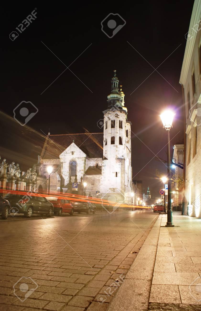 Saint Andrew Church at night - Cracow,Poland Stock Photo - 19536637