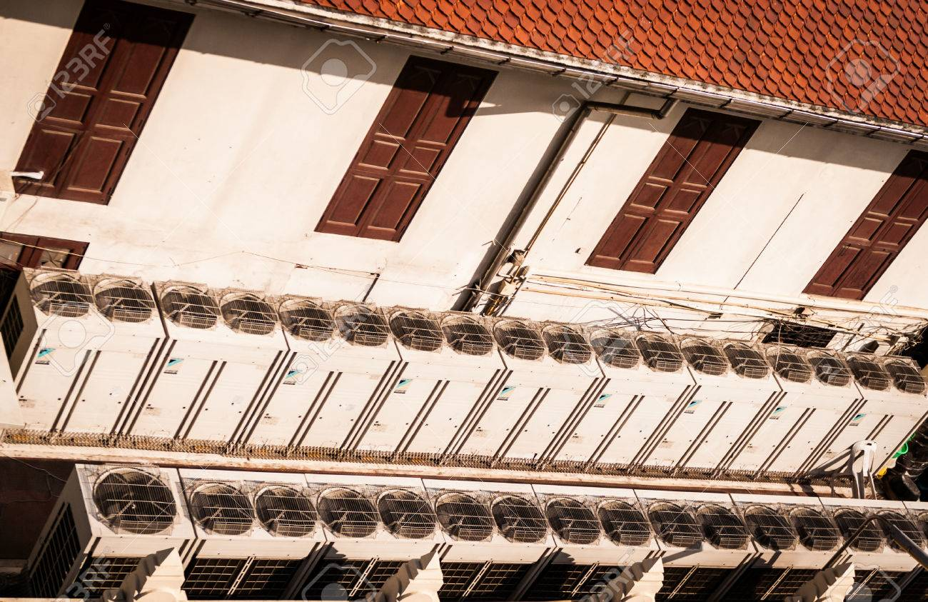 Exhaust vents of air conditioning and ventilation units Bangkok,Thailand