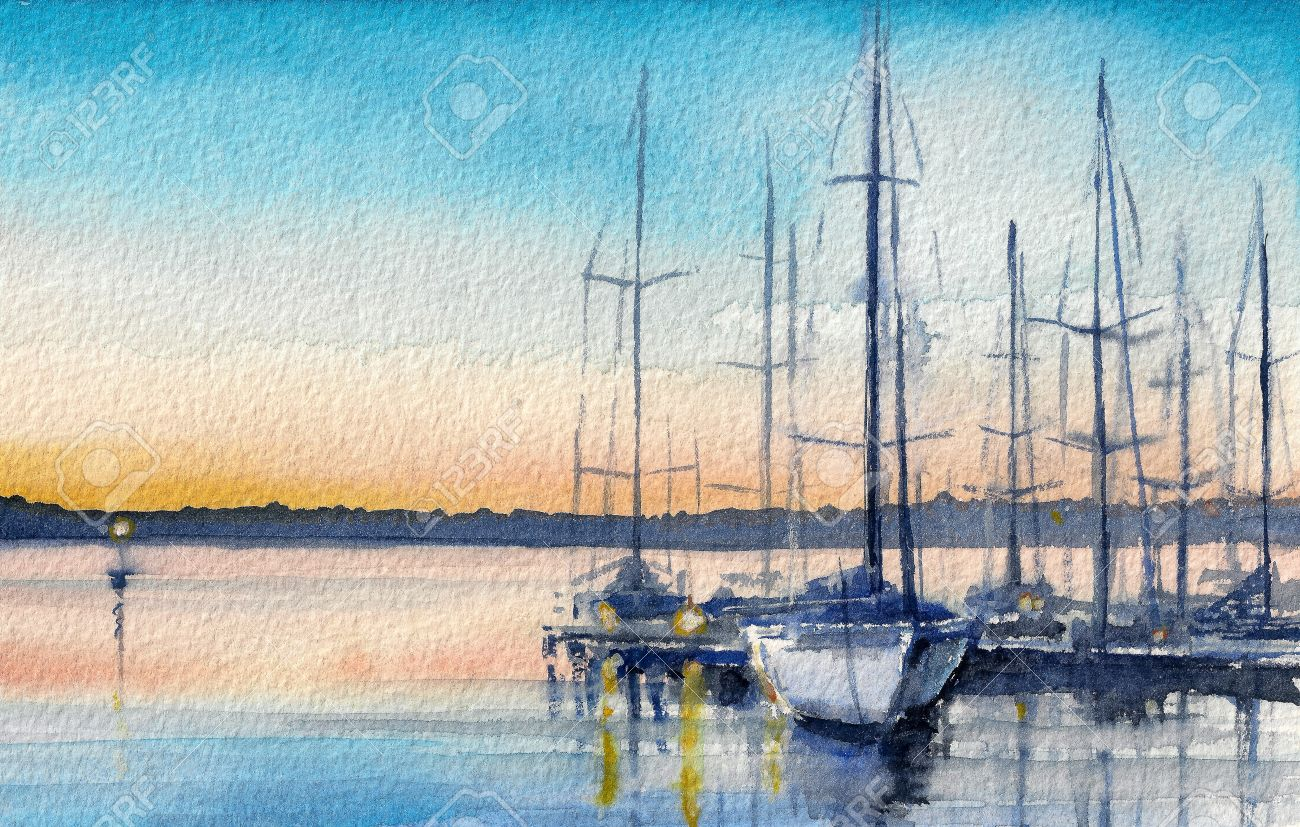 Segelboot sonnenuntergang gemalt  Segelboot Sonnenuntergang Gemalt | loopele.com