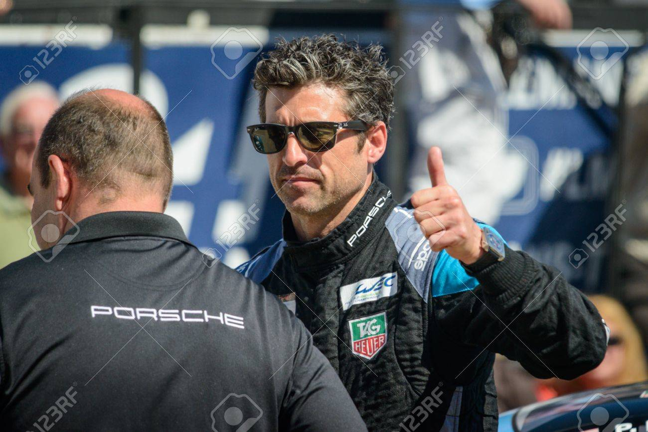 Le Mansfrance June 08 Race Car Driver Patrick Dempsey From