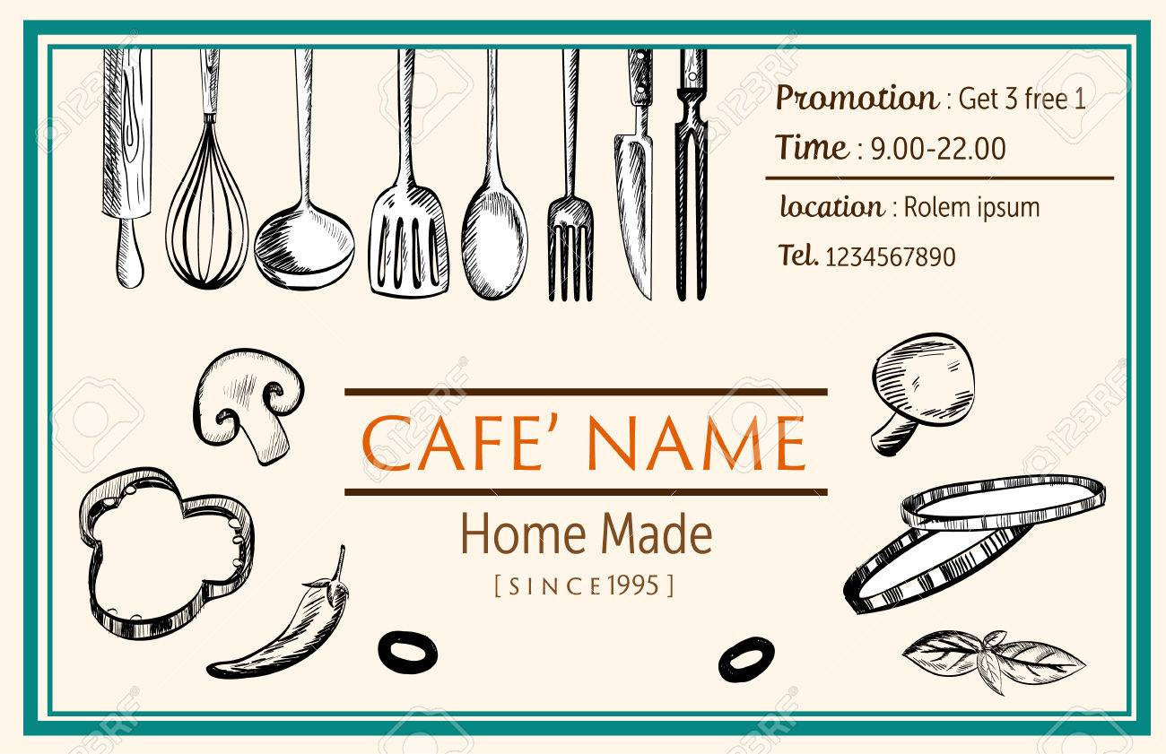 Food Ingredient And Kitchenware Decorataion Template Retro Claasic – Ingredient Label Template