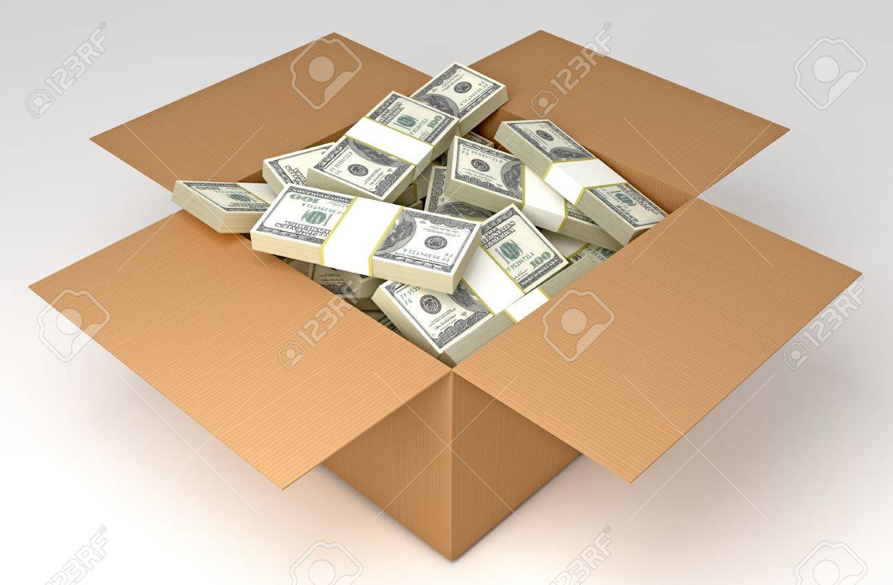 Image result for money in the box