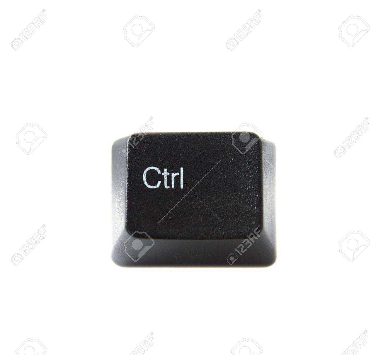 The Control Key From A Black Computer Keyboard Stock Photo ...