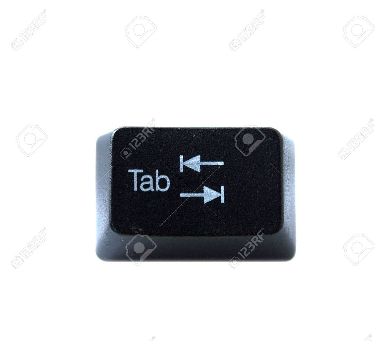 The Tab key from a black computer keyboard Stock Photo - 5766371