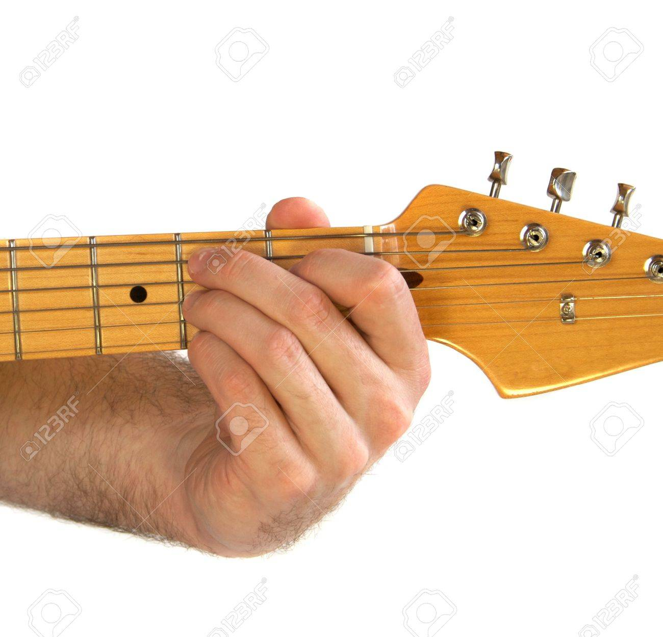 Demonstration Of How To Play The Bm B Minor Chord On The Guitar
