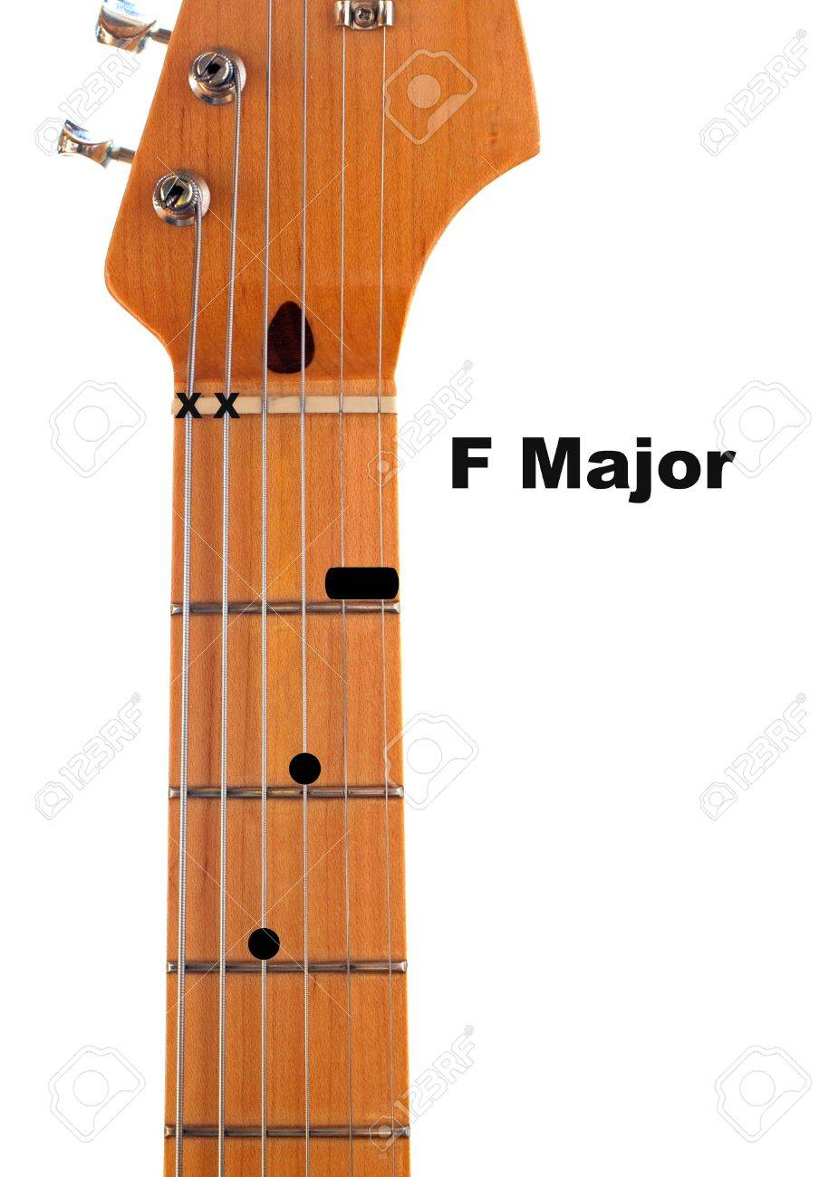 Diagram of how to finger an f major guitar chord stock photo diagram of how to finger an f major guitar chord stock photo 6263769 pooptronica
