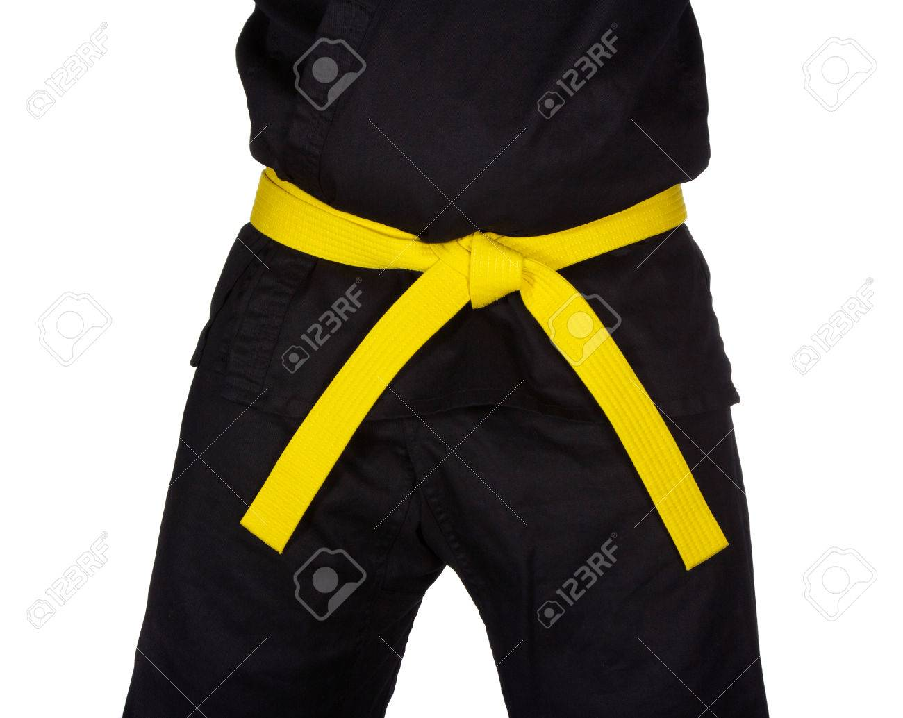 Belt Tied Karate Yellow Belt
