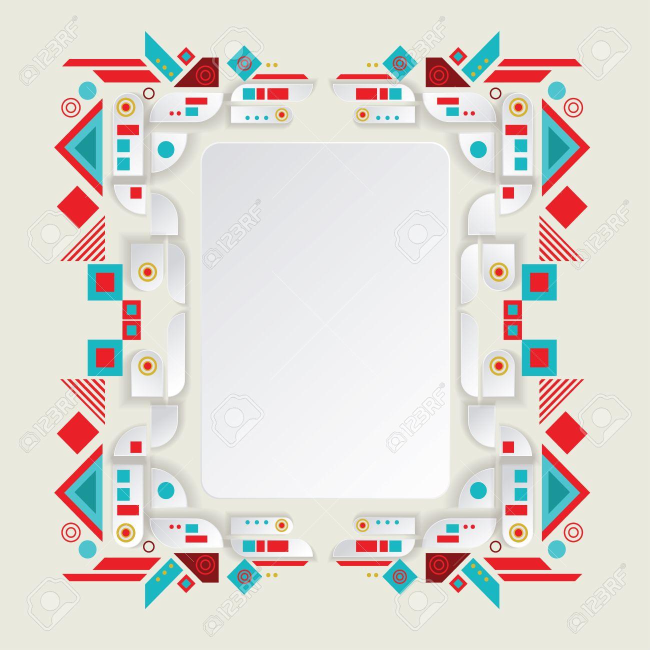 Marco Del Vector Azteca Moderno Para El Diseño De Material ...