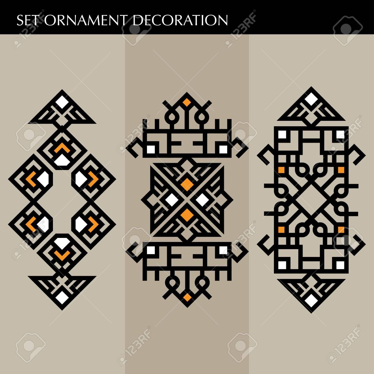 Set Luxus-Rahmen-Vorlage Für Die Dekoration. Japanisch ...