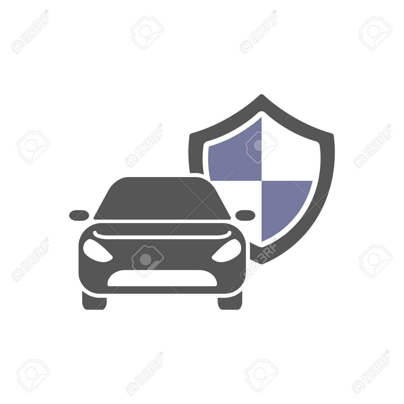 Protect Car Guard Shield Safety Badge Vehicle Icon Privacy Royalty Free Cliparts Vectors And Stock Illustration Image 107683635
