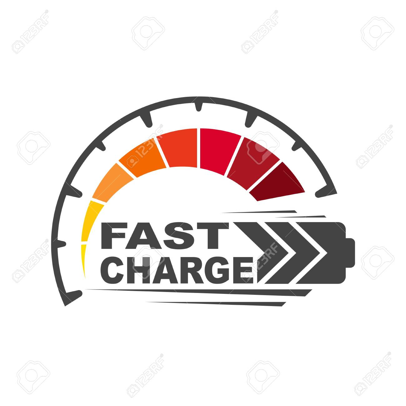 Battery charging icon. Quick and fast charge icon. EPS 10. - 132274634