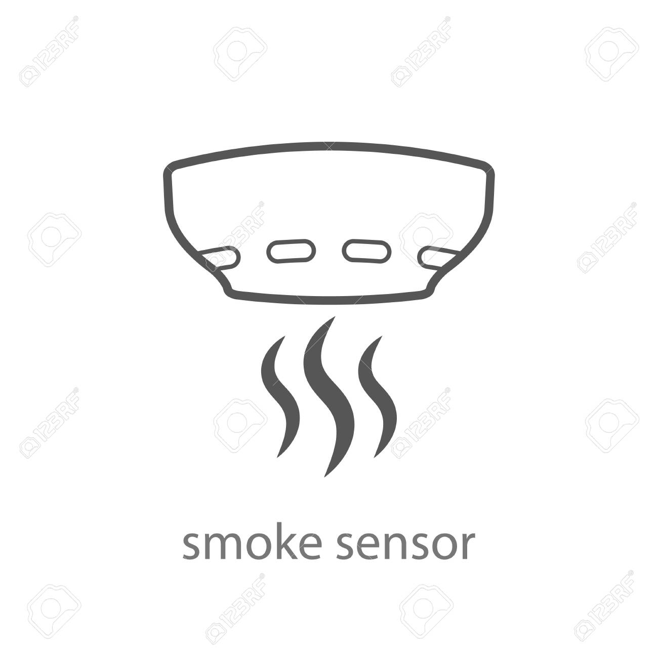 Smoke Alarm System Vector Linear Symbol Isolated On White Background Royalty Free Cliparts Vectors And Stock Illustration Image 141785431