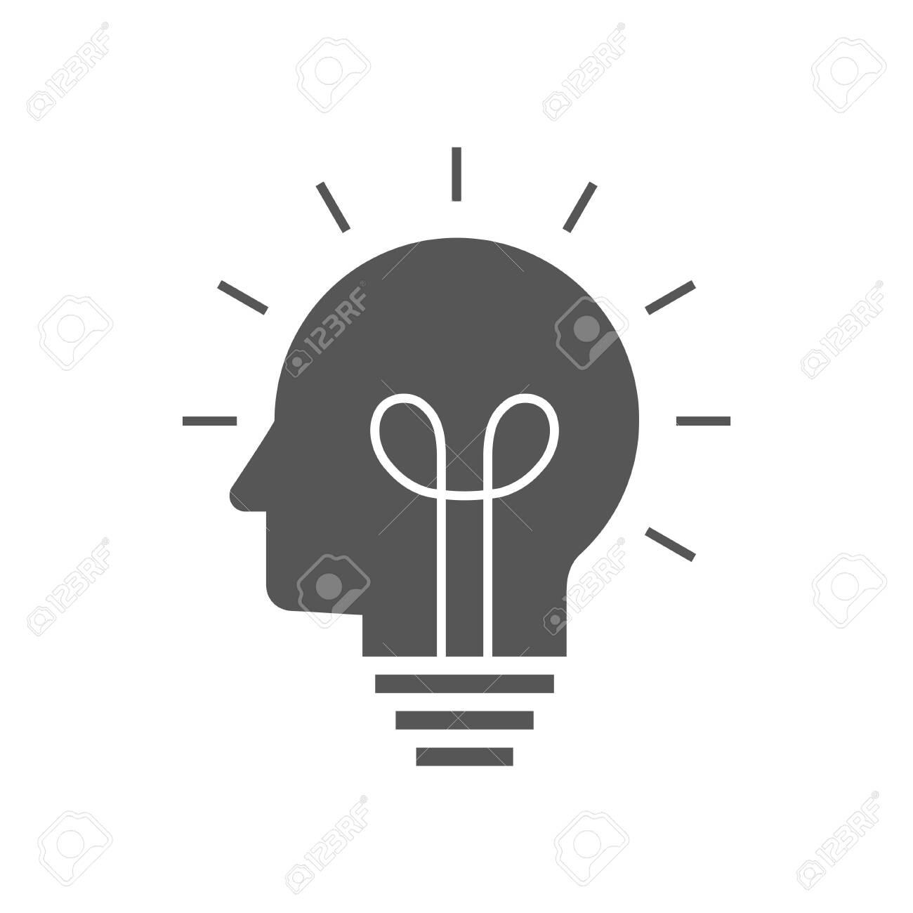 Human head creating a new idea. Creative Idea. vector. - 145260489