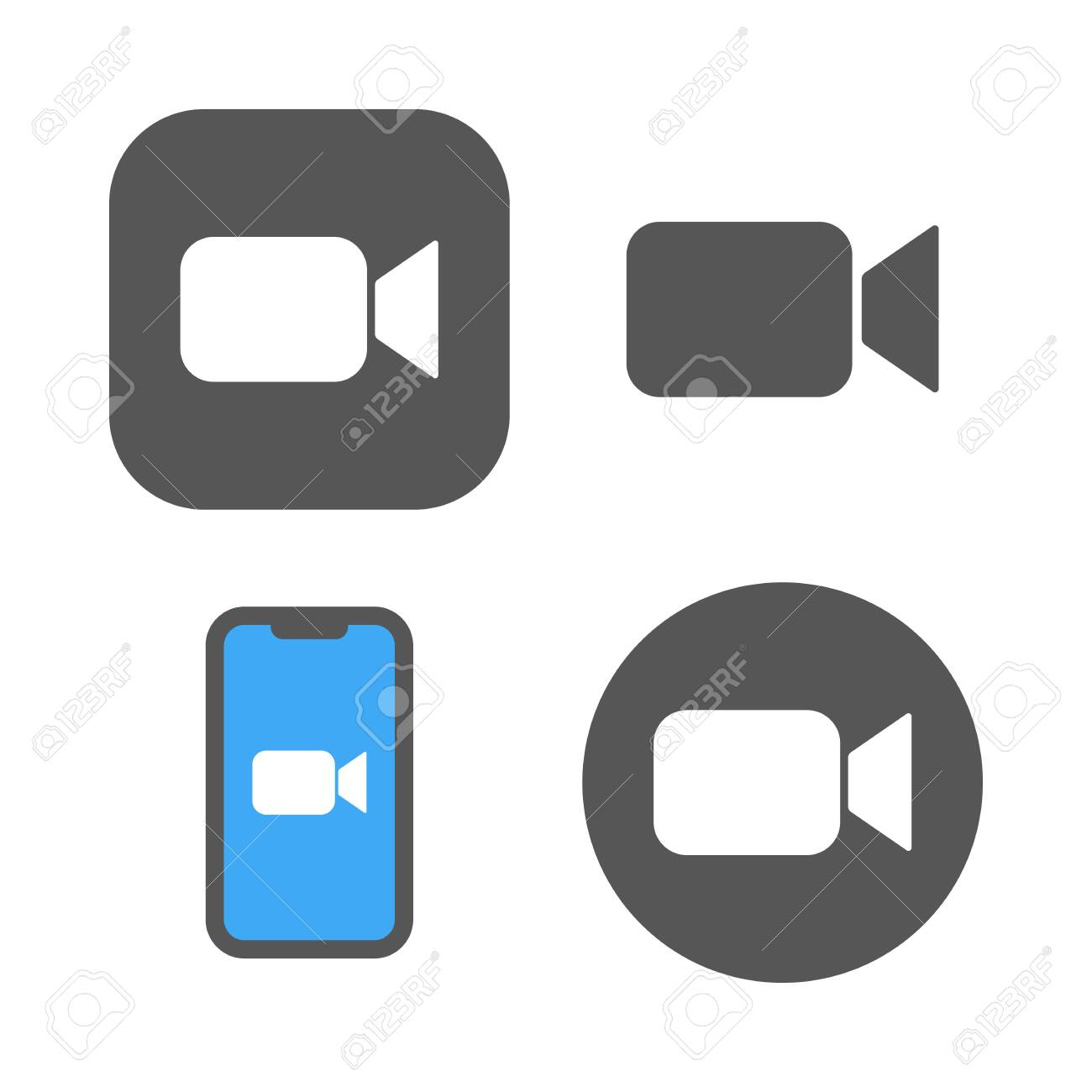 Camera icons - Live media streaming application, conference video calls. - 147130324