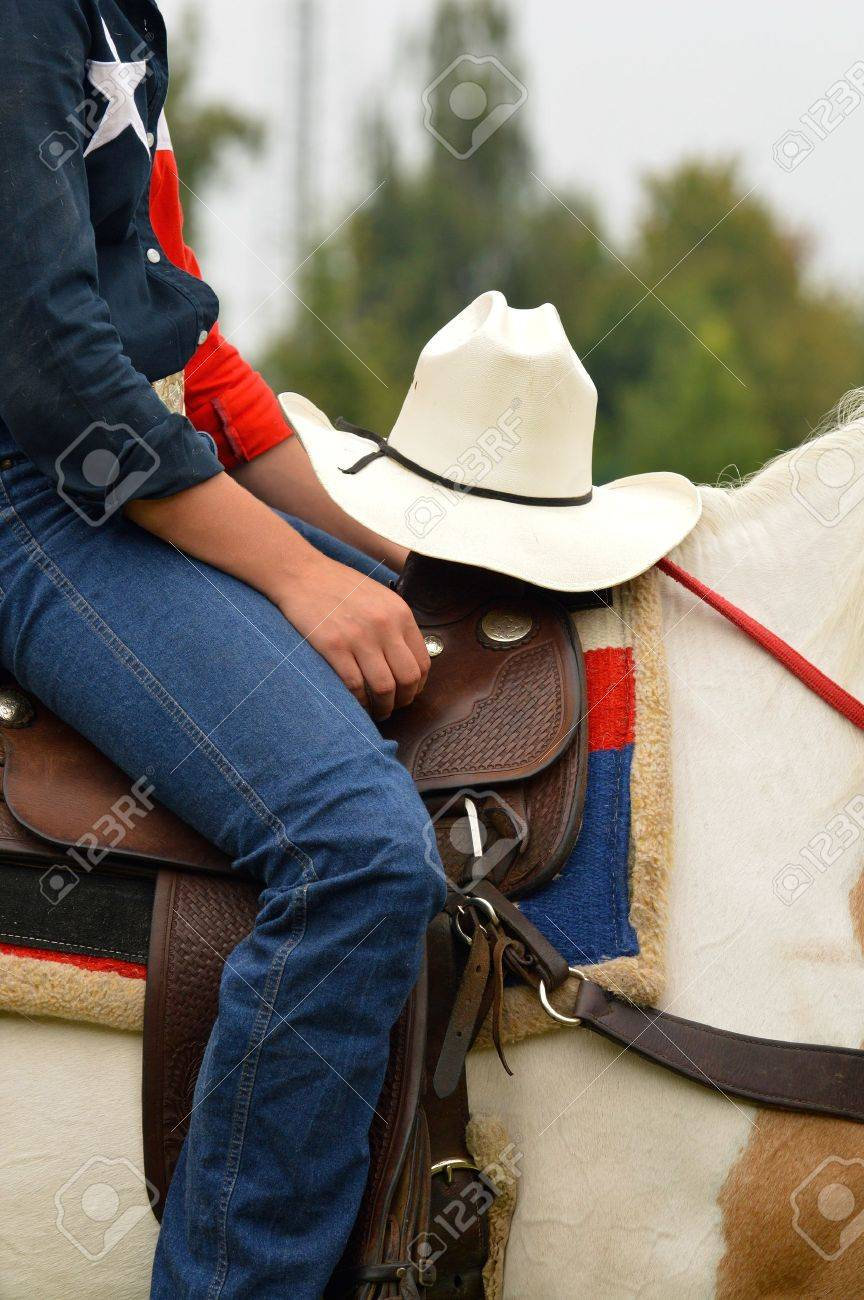 Cowboy Hat Detail Of Western Horse Rider Stock Photo Picture And Royalty Free Image Image 17954678