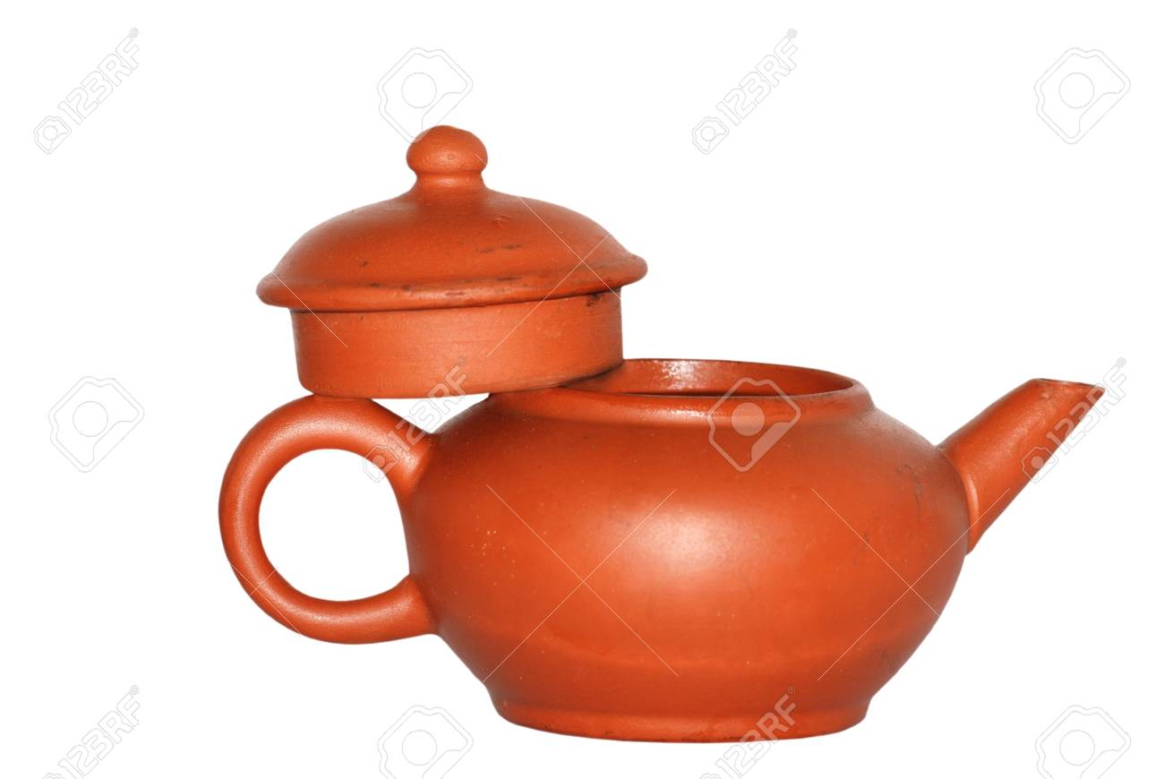 Chinese tea pot isolated in white background Stock Photo - 7480056