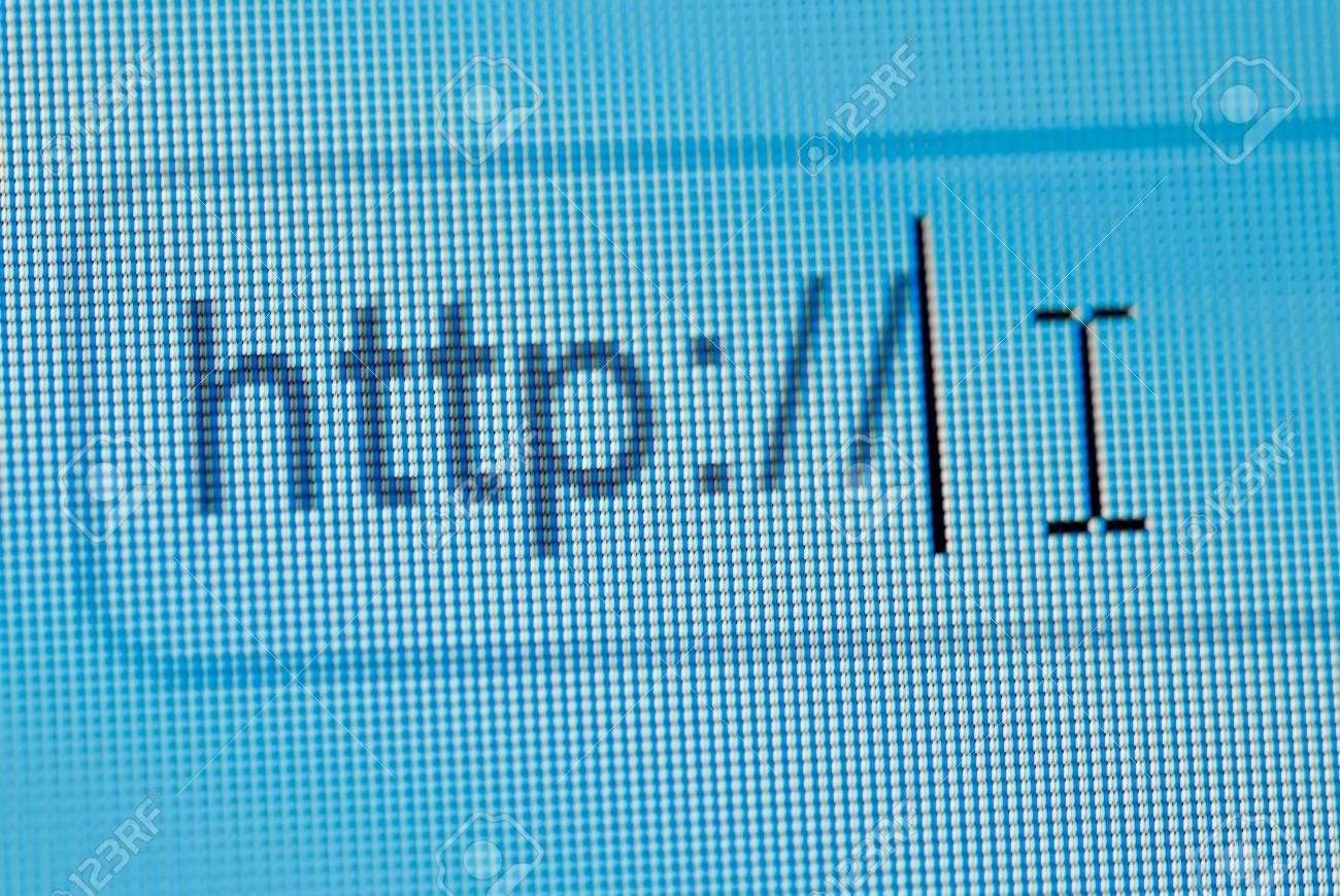 browsing bar text http macro Stock Photo - 8686324