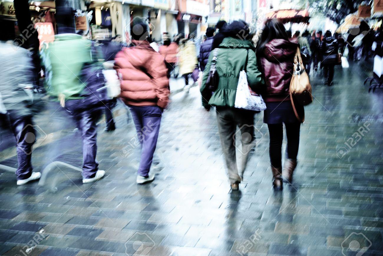 city people on business walking street Stock Photo - 10773757