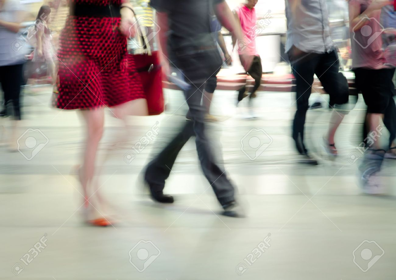 business people abstract background blur motion Stock Photo - 10753713
