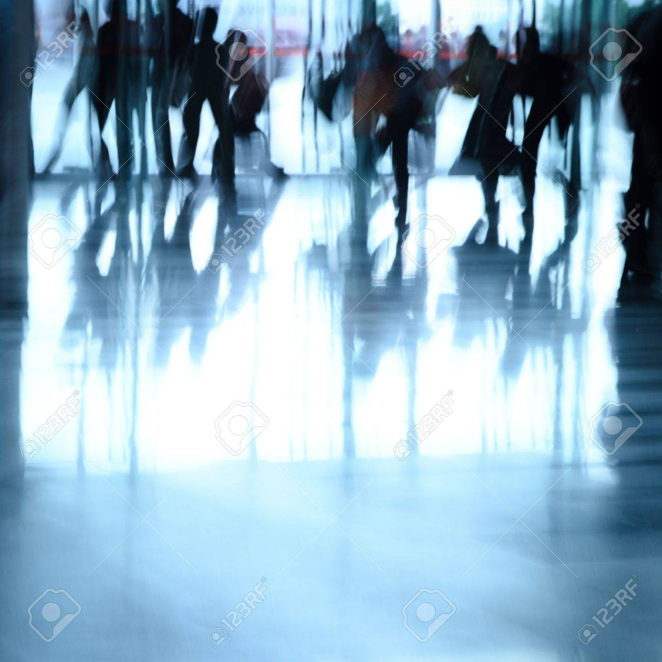 city business people abstract background blur motion Stock Photo - 11624358
