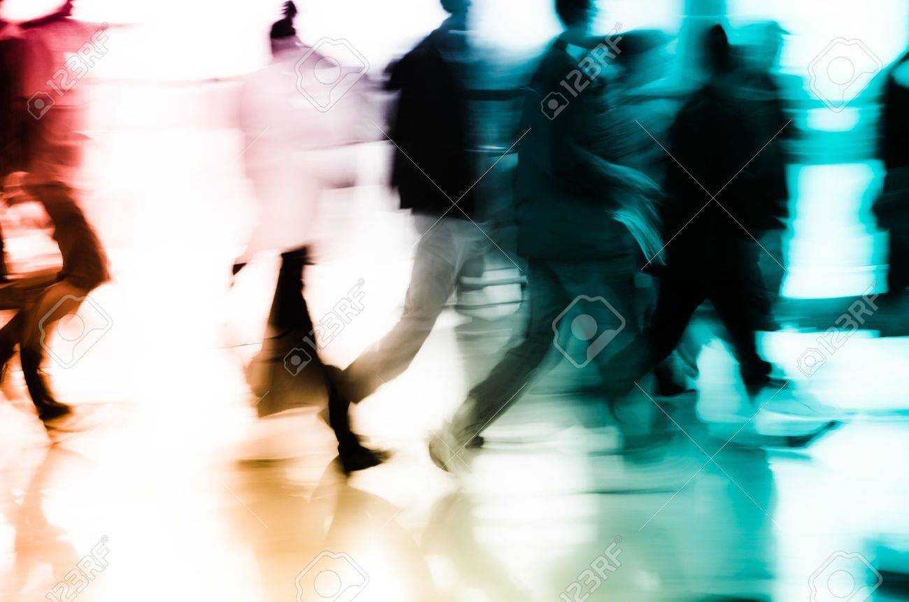 city business people abstract background blur motion Stock Photo - 11730086