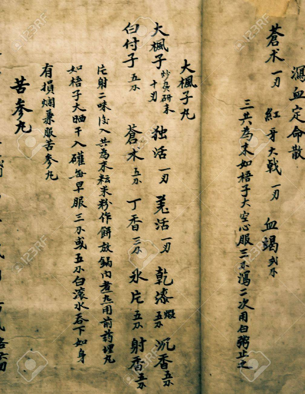 [Obrazek: 12641032-chinese-old-mystery-medical-book-script.jpg]