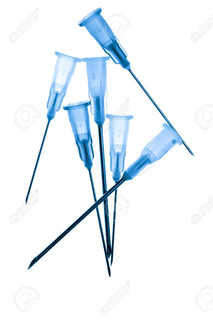 medical syringe needle isolated on white Stock Photo - 13230573