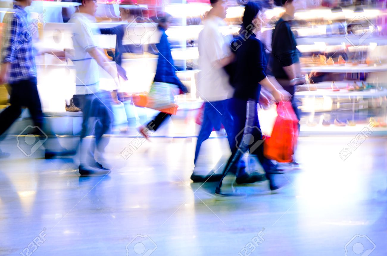 city shopping people crowd at marketplace abstract background Stock Photo - 13462978