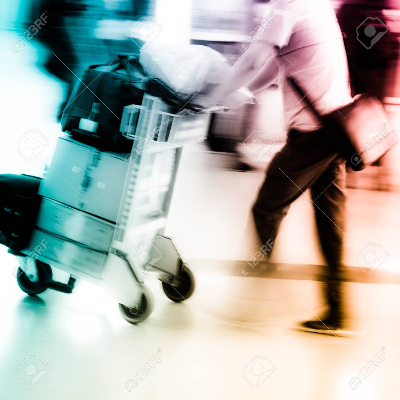 walking city passenger blur motion Stock Photo - 15527807