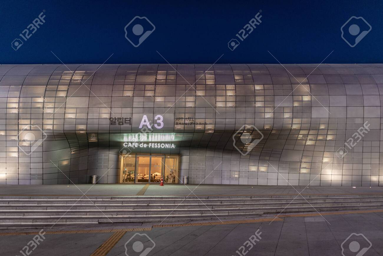 Seoul South Korea June 11 2019 Cafe Entrance At The Dongdaemun Stock Photo Picture And Royalty Free Image Image 137012249