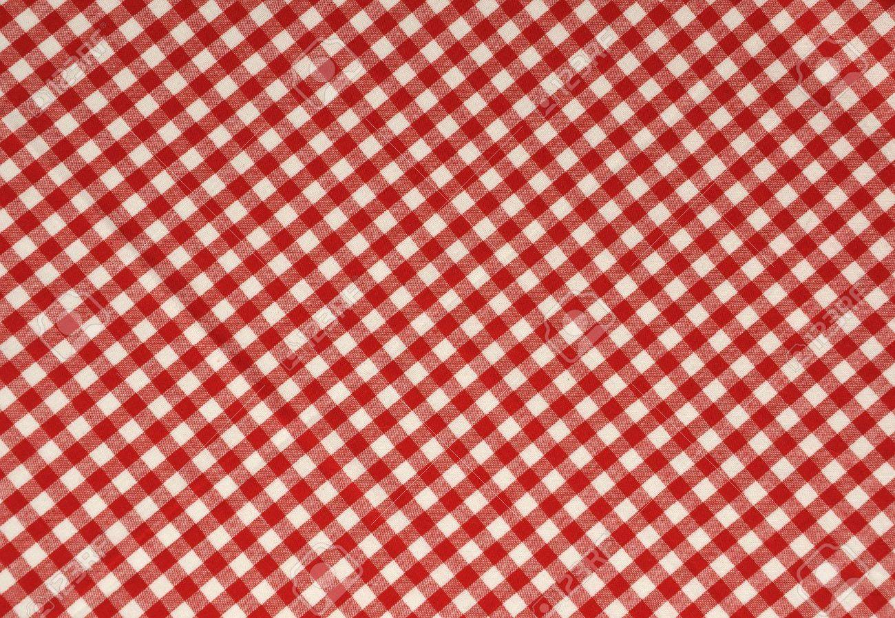 Red gingham fabric background. Stock Photo - 4657533