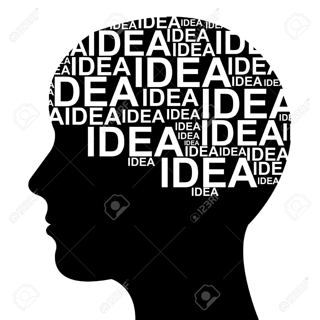 Idea Concept  in Brain Isolated on White Background Stock Photo - 13329001