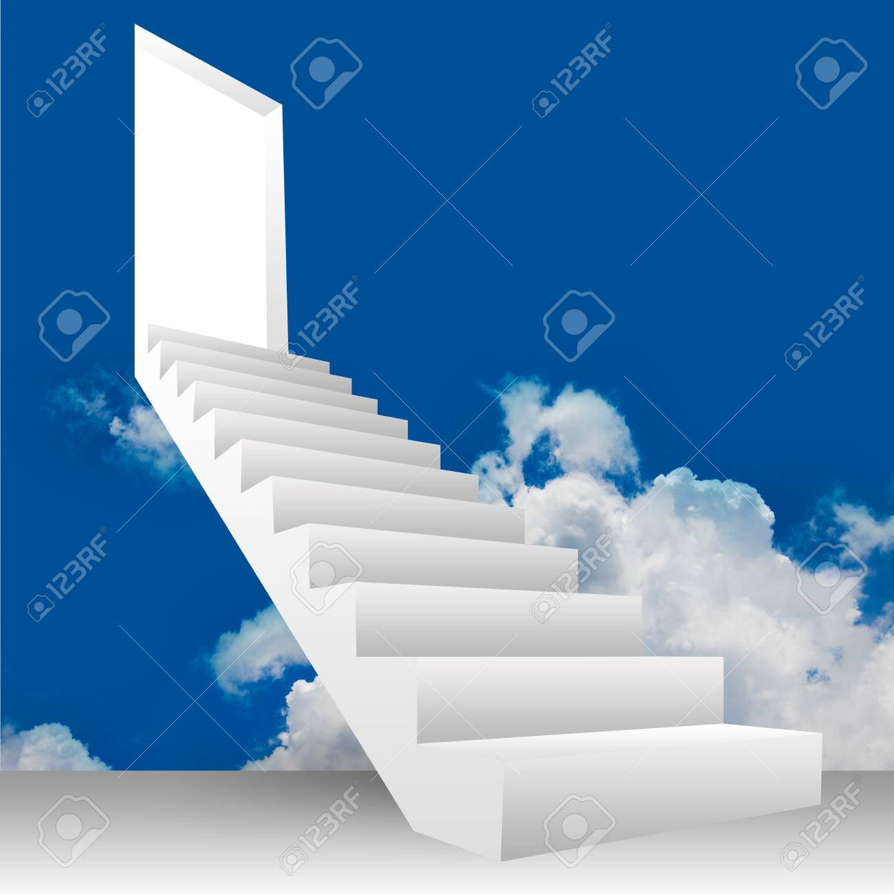 3D Image, Concept of Business for The Step of Career Growth Stock Photo - 14590014