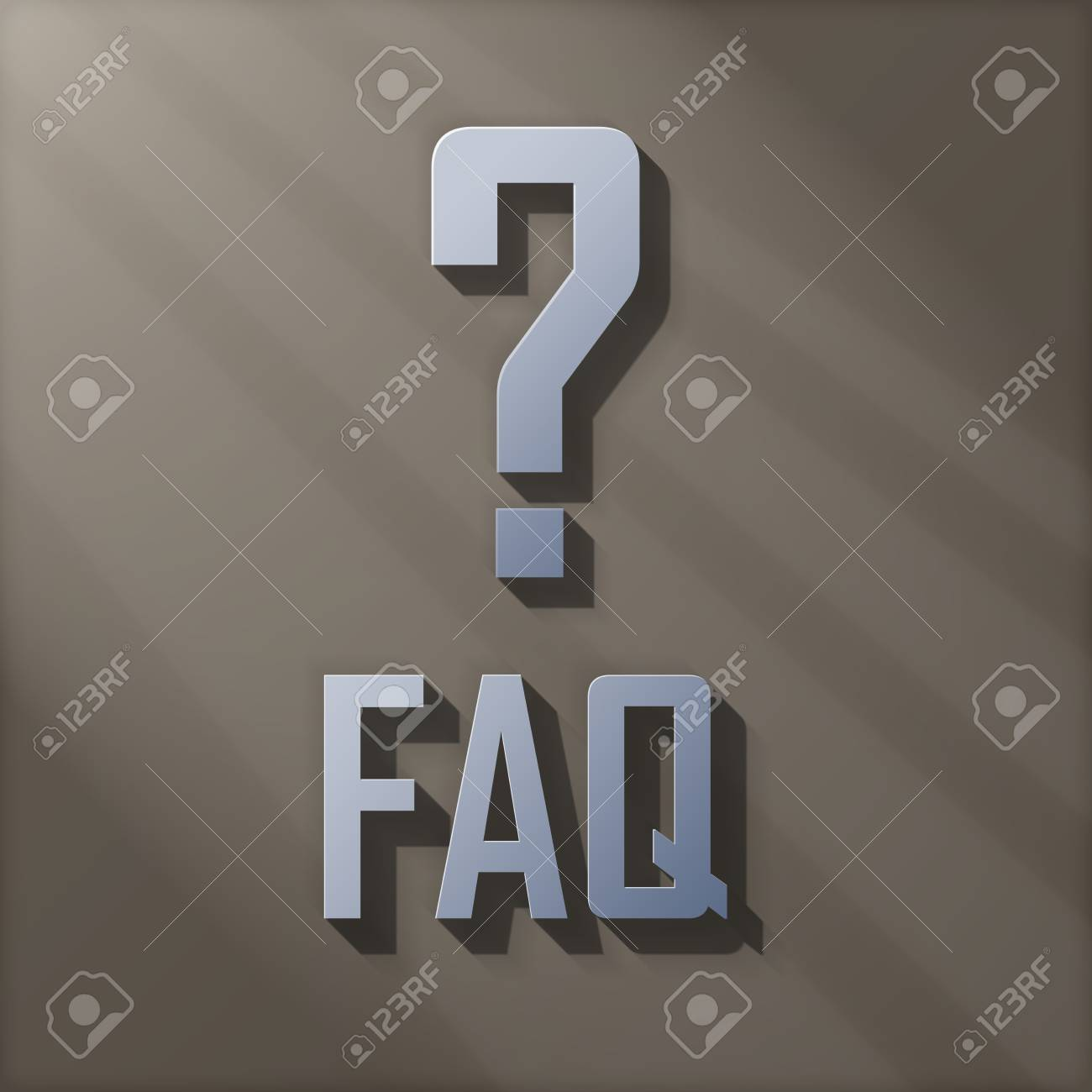 3D FAQ With Question Mark Stock Photo - 14768307