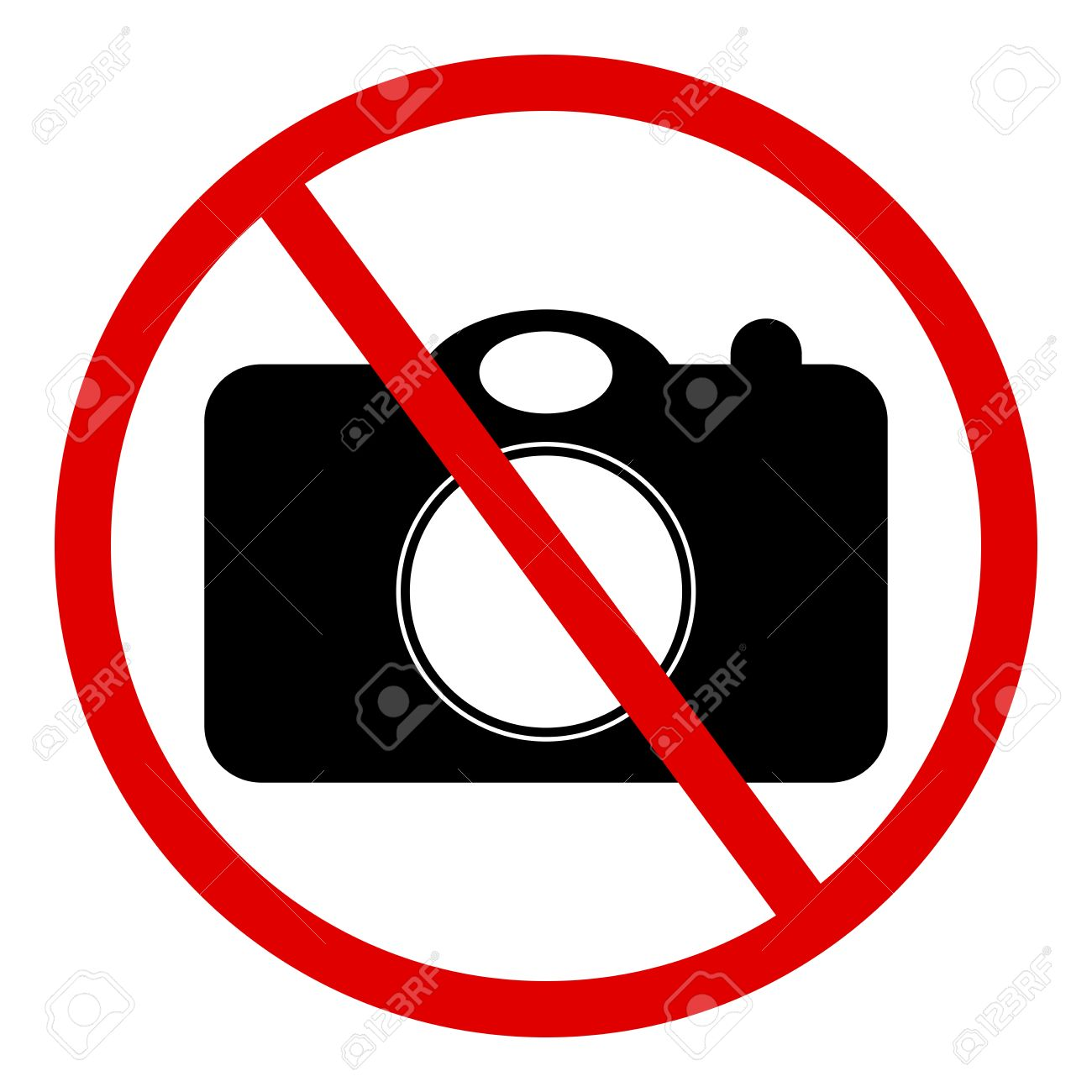 Circle No Photography Sign Isolated On White Background Stock ...