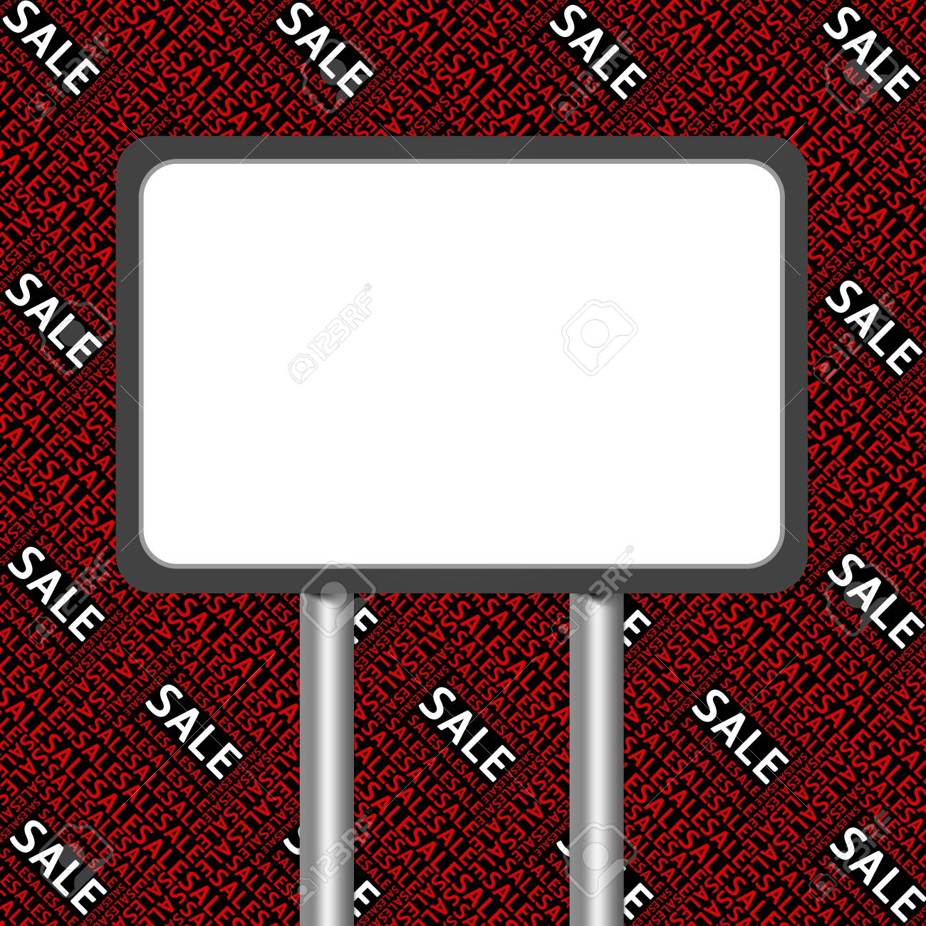 The Blank Billboard With Sale Background for Sale Season Stock Photo - 16711777