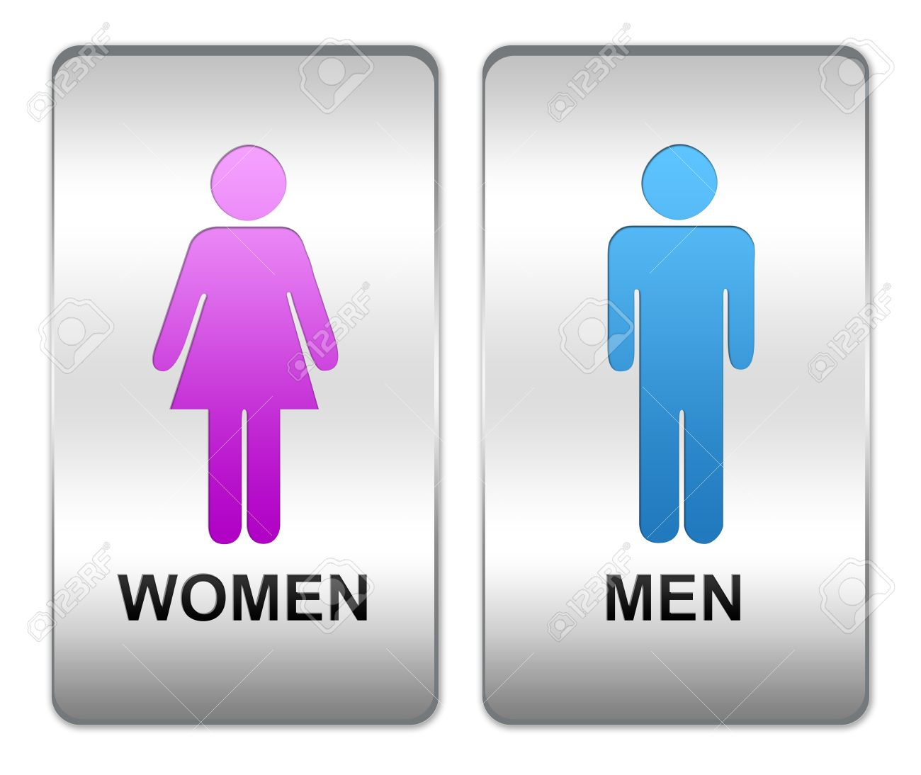Bathroom Signs Silver men and women bathroom sign | home design ideas